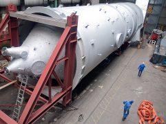 Fertig montiert wartet der Wirbler auf den Weitertransport zum Montageort