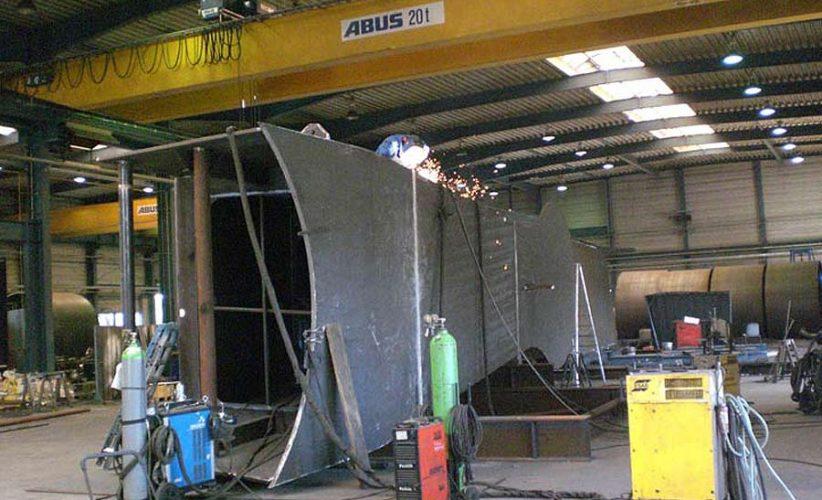 Vorbereitung des Kastenträgers zum UP-Schweißen, Werkstoff S355 und S420a