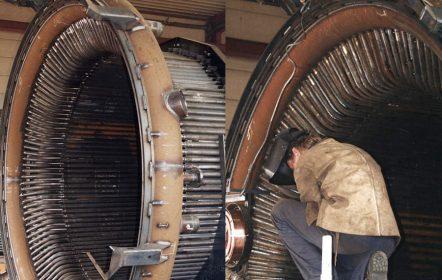 Konverterkühlkamin für ein Stahlwerk in Taiwan, hergestellt im Auftrag von SMS Siemag AG