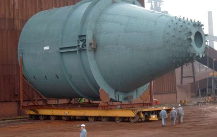 Kohleeinblassilo mit einem Durchmesser von 14m, hergestellt nach Druckgeräterichtlinie