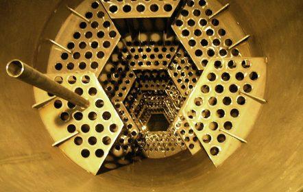 Röhrenkühler einbaufertig produziert mit Laufringen und Zahnkranz zur Gipskartonherstellung